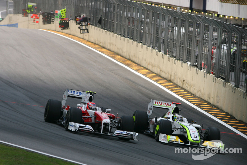Kamui Kobayashi, Toyota F1 Team y Jenson Button, Brawn GP