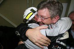 Jenson Button, Brawn GP y Ross Brawn director del equipo Brawn GP