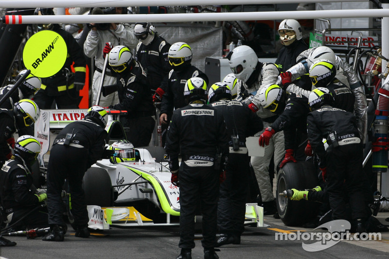 Jenson Button, Brawn GP pitstop