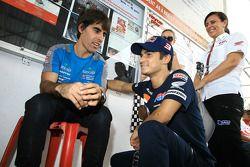 Go-kart evenement: Dani Pedrosa met Julian Simone