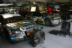 Three three cars of Tomas Kostka, Kolles TME, Audi A4 DTM, Johannes Seidlitz, Kolles TME, Audi A4 DT