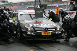 Pitstop practice of Ralf Schumacher, Team HWA AMG Mercedes C-Klasse
