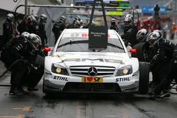 Pitstop practice of Paul di Resta, Team HWA AMG Mercedes C-Klasse