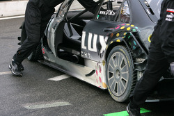 Dirty side of the car of Ralf Schumacher, Team HWA AMG Mercedes C-Klasse after an off track excursio