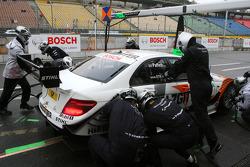 Pitstop practice of Gary Paffett, Team HWA AMG Mercedes C-Klasse