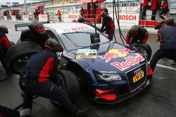 Pitstop practice of Mattias Ekström, Audi Sport Team Abt Audi A4 DTM