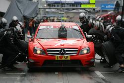 Pitstop practice of Mathias Lauda, Mücke Motorsport, AMG Mercedes C-Klasse