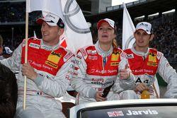 Alexandre Prémat, Audi Sport Team Phoenix Audi A4 DTM; Katherine Legge, Audi Sport Team Abt Audi A4 DTM et Oliver Jarvis, Audi Sport Team Phoenix Audi A4 DTM