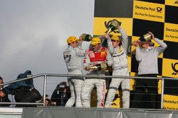 Championship podium: Gary Paffett, Team HWA AG, AMG Mercedes C-Klasse, Timo Scheider, Audi Sport Tea