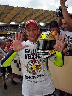 Pole winner Valentino Rossi, Fiat Yamaha Team