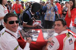 Lucio Cecchinello and Randy De Puniet, LCR Honda MotoGP