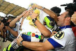 2009 MotoGP champion Valentino Rossi, Fiat Yamaha Team celebrates