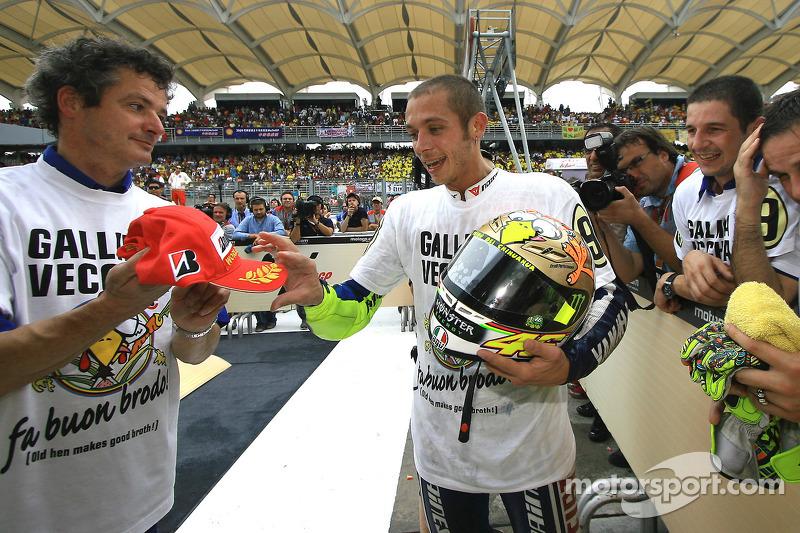 2009 MotoGP-kampioen Valentino Rossi, Fiat Yamaha Team viert zijn titel