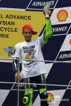 Podium: third place and 2009 MotoGP champion Valentino Rossi, Fiat Yamaha Team celebrates