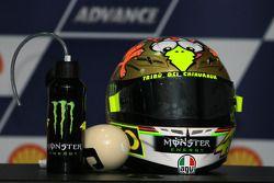 Post conferencia de prensa: casco de Valentino Rossi, Fiat Yamaha Team