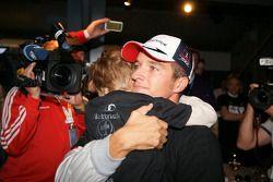 2009 DTM champion Timo Scheider, Audi Sport Team Abt celebrates with his son