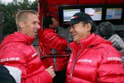 Michael Krumm with Nismo President Yuichi Sanada