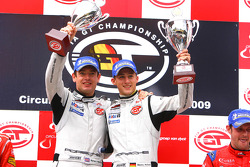 GT2 podium: class winners Marco Holzer and Richard Westbrook