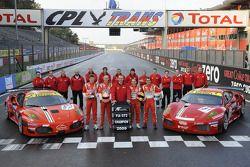 #50 AF Corse Ferrari F430: Toni Vilander, Gianmaria Bruni and #51 AF Corse Ferrari F430: Alvaro Barb