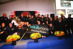Prize giving party: FIA-GT GT1 champion team: #1 Vitaphone Racing Team Maserati MC 12: Michael Bartels, Andrea Bertolini and #2 Vitaphone Racing Team Maserati MC 12: Miguel Ramos, Alex Müller