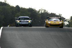 #4 PK Carsport Corvette C6R: Mike Hezemans, Anthony Kumpen, #58 Trackspeed Porsche 911 GT3 RSR: Sascha Maassen, David Ashburn
