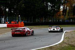 #51 AF Corse Ferrari F430: Alvaro Barba Lopez, Niki Cadei, #4 PK Carsport Corvette C6R: Mike Hezemans, Anthony Kumpen