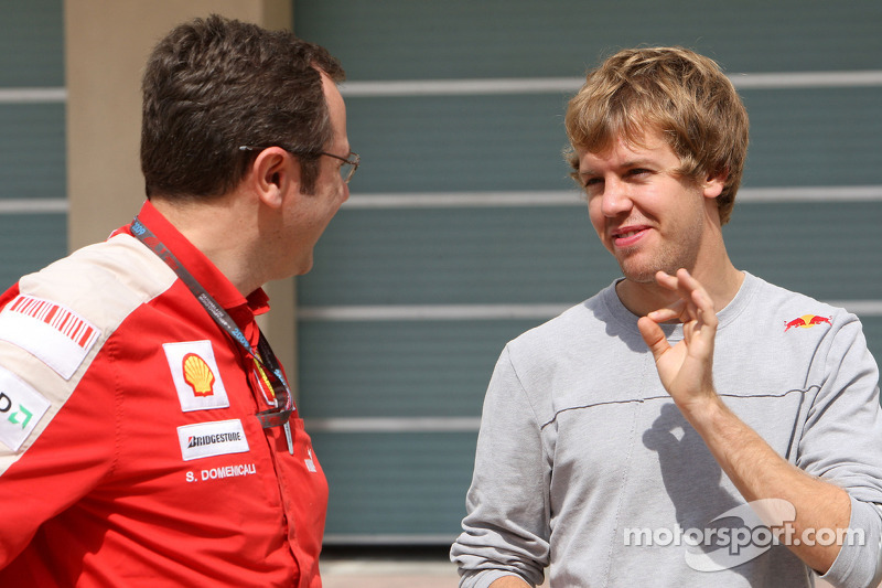 Stefano Domenicali, Scuderia Ferrari, Sporting Director, Sebastian Vettel, Red Bull Racing