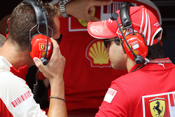 Michael Schumacher, Test Driver, Scuderia Ferrari, Felipe Massa, Scuderia Ferrari