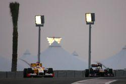 Fernando Alonso, Renault F1 Team et Jaime Alguersuari, Scuderia Toro Rosso