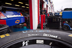 A tire is labeled for the two superspeedways in the garage area