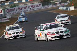 Alex Zanardi, BMW Team Italy-Spain, BMW 320si, Sergio Hernandez, BMW Team Italy-Spain, BMW 320si et