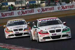 Alex Zanardi, BMW Team Italy-Spain, BMW 320si et Sergio Hernandez, BMW Team Italy-Spain, BMW 320si