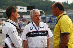 Roberto Ravaglia, Team Manager, BMW Team Italy-Spain / ROAL Motorsport, Andreas Bellu and Jaime Puig