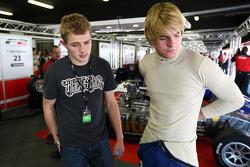 Richard Plant 2009 Formula Palmer Audi Champion talks with Jack Clarke