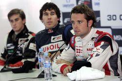 Nicola De Marco, Robert Wickens et Andy Soucek en conférence de presse