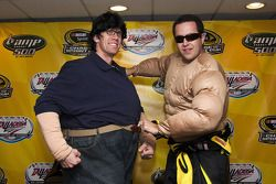 Carl Edwards and Jared Fogle in their