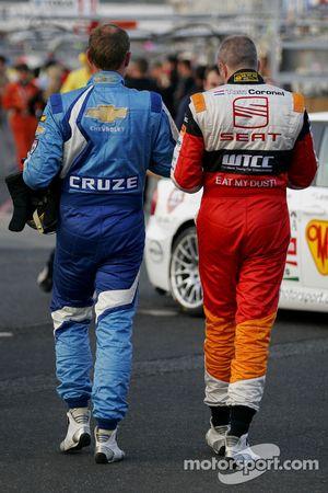 Robert Huff, Chevrolet, Chevrolet Cruze and Tom Coronel, Sunred Engineering, Seat Leon 2.0 TFSI