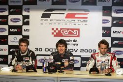 Philipp Eng, Robert Wickens and Andy Soucek in the post qualifying press conference