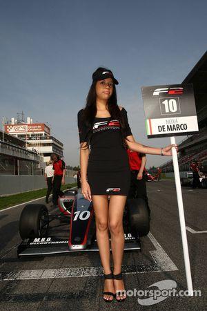 Grid girl for Nicola De Marco