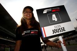 Grid girl for Julien Jousse