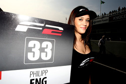 Grid girl for Philipp Eng