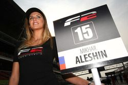 Grid girl for Mikhail Aleshin