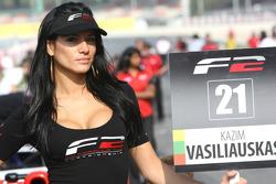 Grid girl for Kazim Vasiliauskas