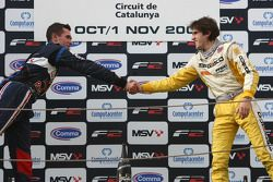 Mikhail Aleshin and Tristan Vautier on the podium