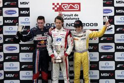 Mikhail Aleshin, Andy Soucek and Tristan Vautier on the podium