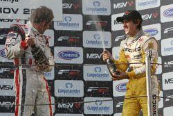 Le vainqueur Andy Soucek et Tristan Vautier sur le podium