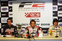 Mikhail Aleshin, Andy Soucek et Tristan Vautier en conférence de presse d'après-course