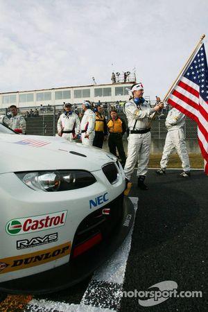 La BMW E92 M3 N°92 du BMW Rahal Letterman Racing Team
