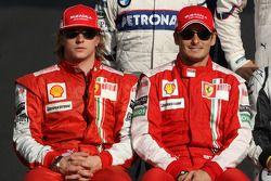 Kimi Raikkonen, Scuderia Ferrari, Giancarlo Fisichella, Scuderia Ferrari