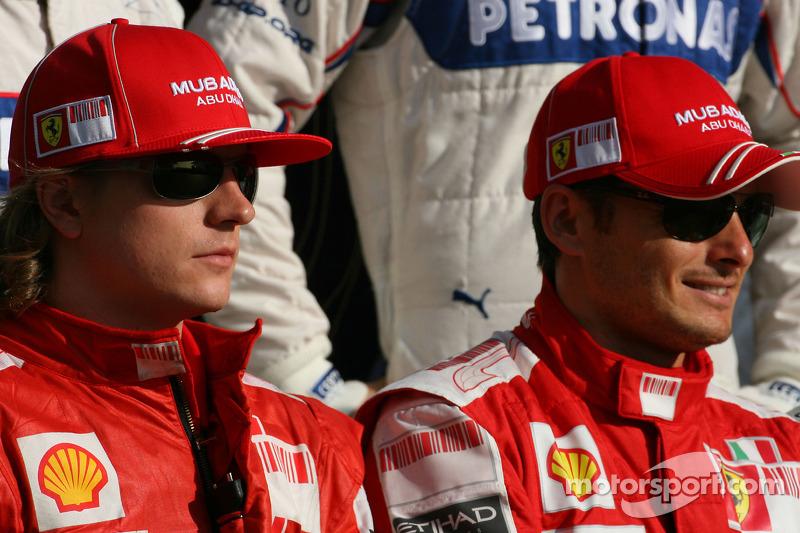 Kimi Raikkonen, Scuderia Ferrari y Giancarlo Fisichella, Scuderia Ferrari